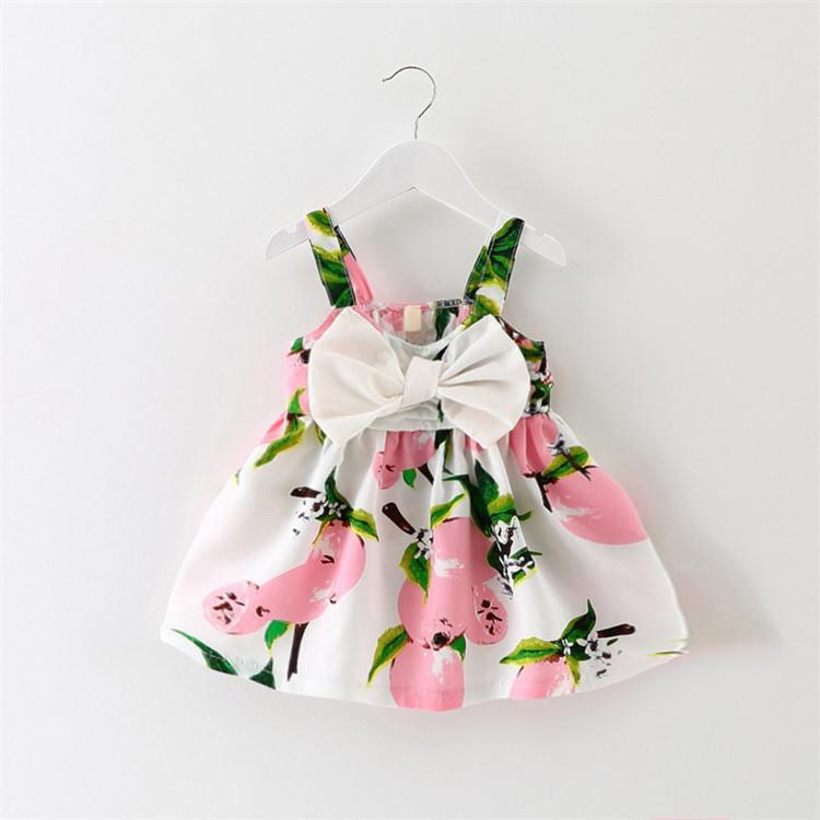 新品童裙2016夏季童裝女童寶寶純棉背心田園風公主連衣裙1234歲