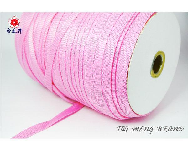 台孟牌 PP 水壺帶 10mm 粉紅色(扁織帶、特多龍、手提繩、包裝帶、DIY、布飾、打包帶、手工藝、綁繩、材料、編織)