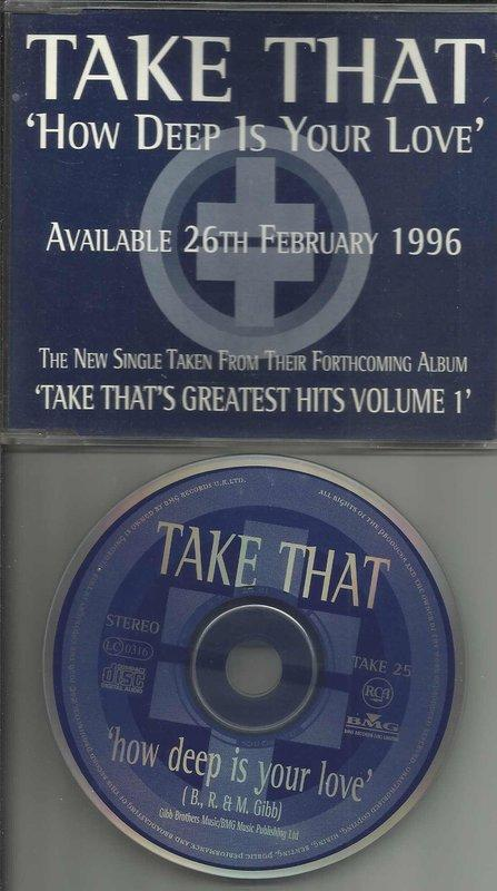 TAKE THAT How Deep Is Your Love- AVAILABLE 26TH FEBRUARY1996
