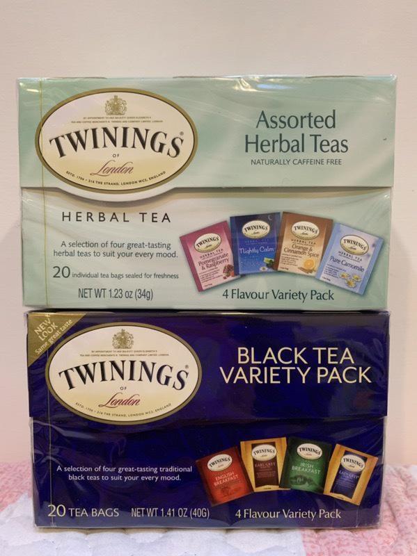 美國帶回⏰現貨 唐寧茶 Twinings 綜合花草茶 經典紅茶組 皇家伯爵茶 早餐茶 四種口味 20入裝