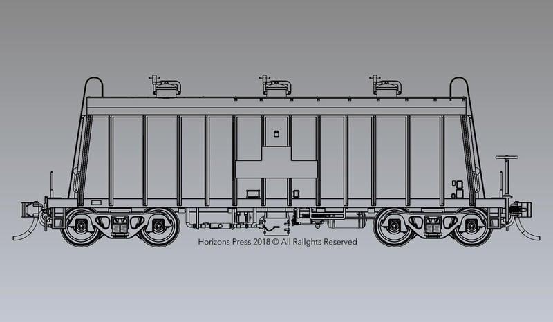 [限定早鳥優惠] HO Gauge 1:80 亞洲水泥斗車P35CH3000型塗裝完成品 單輛