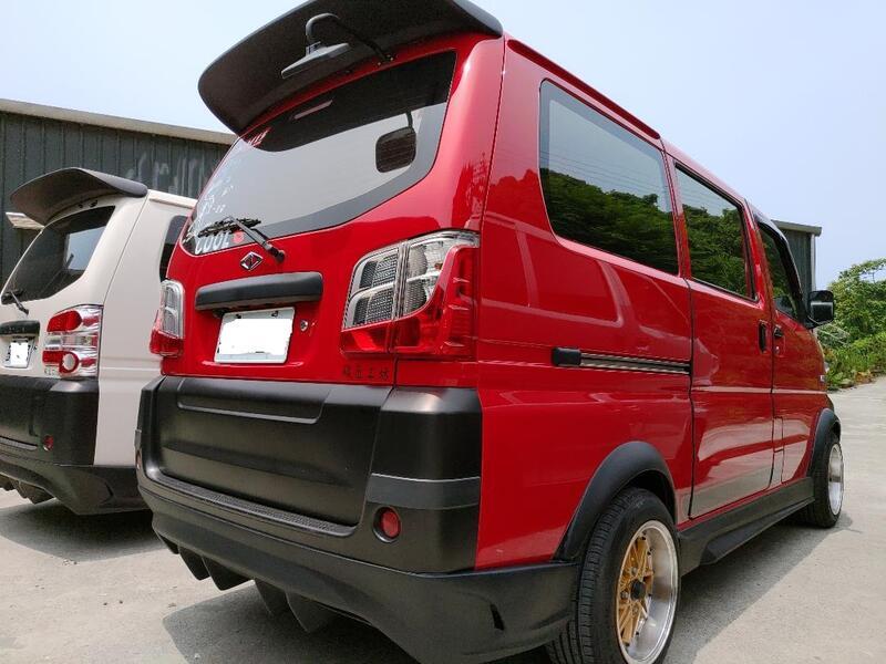 車酷爆龜坊-三菱中華A180-菱利1.2-1.3-1.6廂型車後大包-空力套件