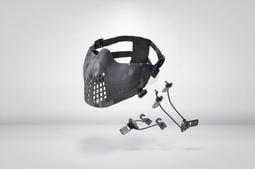RST 紅星 - 羅賓漢 兩用 硬殼護嘴面罩 領航者 抗彈 面具 兩種佩戴方式 黑色多地型 ... 05103