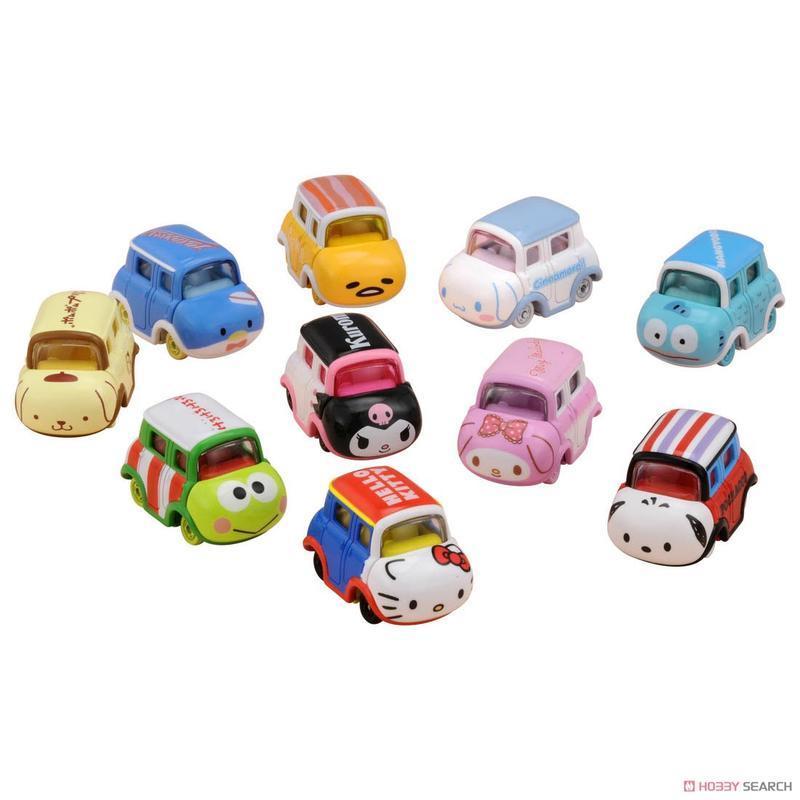 玩具城市~TOMICA火柴盒小汽車系列 ~DREAM TM 三麗鷗家族~Kitty 布丁狗 美樂蒂 蛋黃哥(一盒10台)