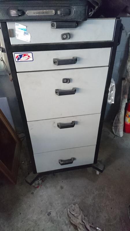 5層鐵櫃帶輪子 汽車工具儀器專用鐵櫃