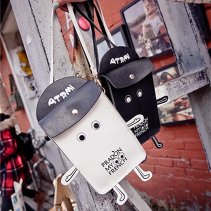 蛋蛋屋創意精品:韓國東大門新款機器人6puls手機包 立體創意單肩斜跨零錢包 宋慧喬同款