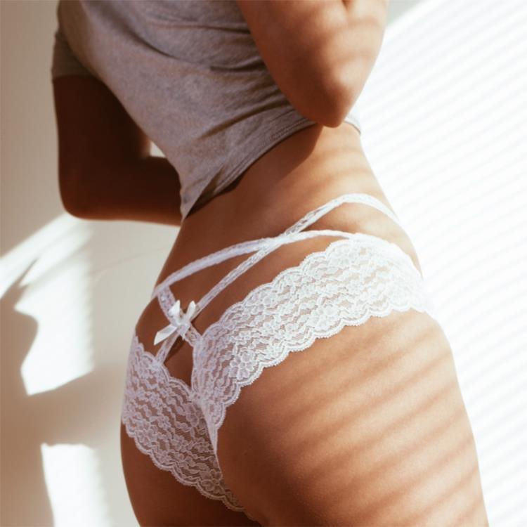 ×女 三角褲×歐美火辣性感交叉綁帶網紗蕾絲法式透明性感內褲女三角褲【NB_072】