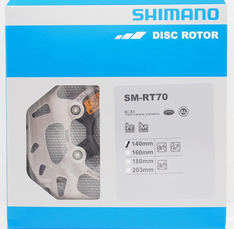 艾祁單車 SHIMANO 105/SLX SM-RT70 140mm中心鎖入式散熱碟盤日本製盒裝公司貨公路車登山車可用