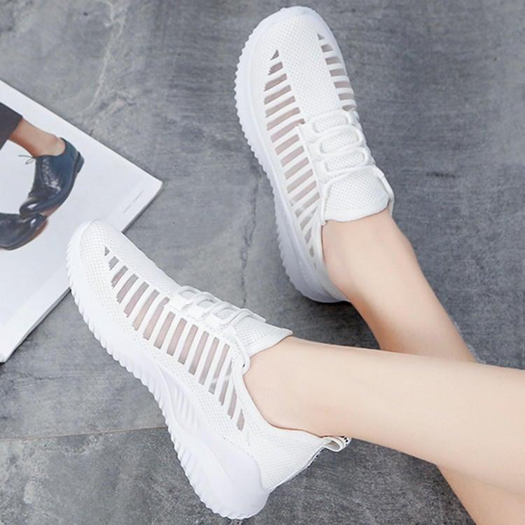 現貨 附發票 新款透氣舒適休閒鞋 女款運動鞋 平底鞋子 小白鞋 編號 9999