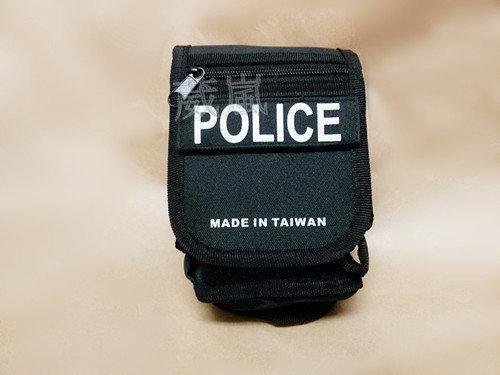 2館 台製 警用 勤務 腰包 ( POLICE 警察 霹靂包 腰掛 雜物包 證件袋 手銬袋 COSPLAY 角色扮演