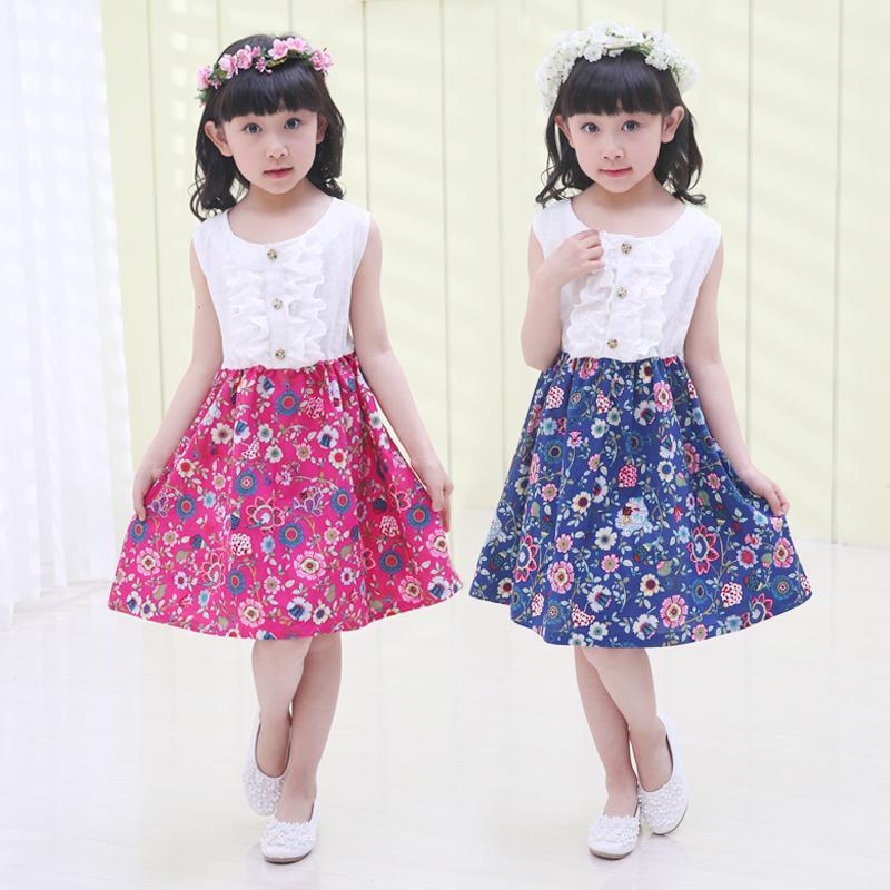 韓版女童連衣裙幼童純棉背心裙子女孩兒童裝夏季小孩中大童春夏裝