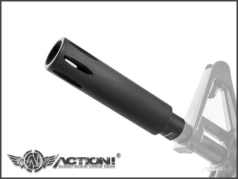 "【Action!】補貨中)CAR - XM177 GBB氣動槍專用 CAR-15 4.5"" 鋼製消焰/滅音器"