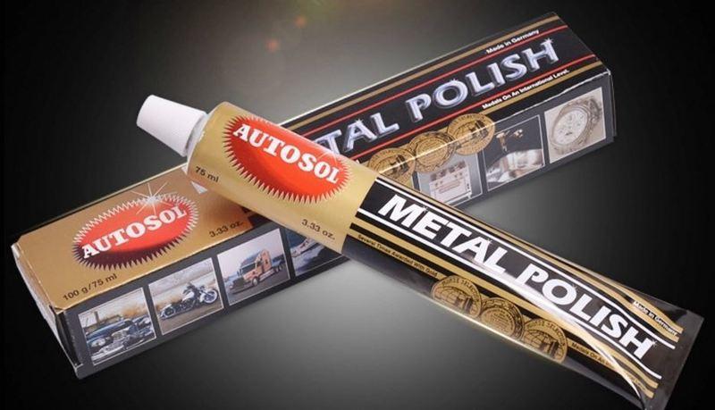 <1個$114含運>UTOSOL METAL POLISH 電鍍膏 拋光膏金屬擦亮膏適用於排氣管100G/75ml