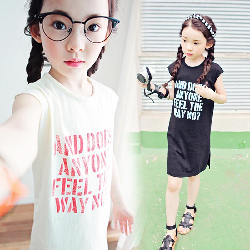 2016新款韓版女童連衣裙純棉夏季中大童兒童裙子海邊假度沙灘長裙