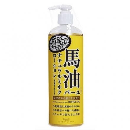 《日本Loshi》日本北海道保水潤澤馬油護膚霜 身體乳液 馬油乳液485ml 另有保濕乳霜 220g