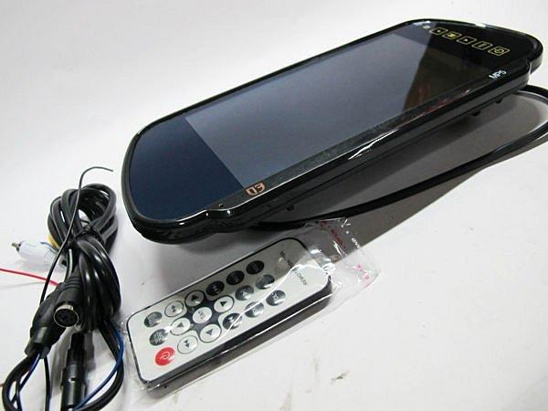 現貨~7吋MP5藍芽後視鏡螢幕 USB/SD播放 七吋後視鏡螢幕 倒車自動切換(數位電視 藍芽 可參考)