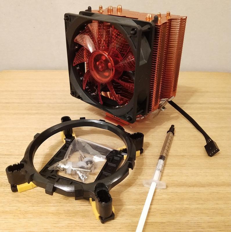 超頻3紅海10 增強改裝版 LED紅光超靜音風扇 CPU 塔式散熱器 775/115X/1136/AM2+/FM2