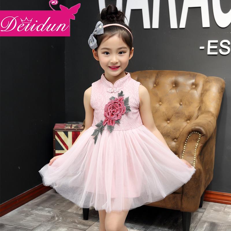 2016夏裝新款公主裙女童裝兒童民族風連衣裙中大童夏季旗袍裙子潮