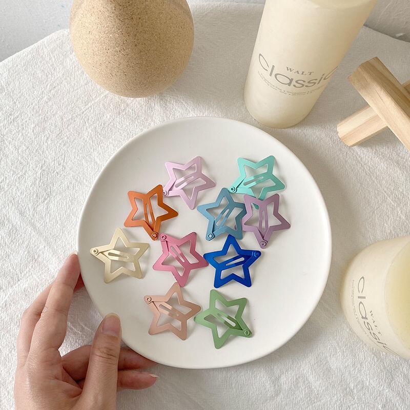 日韓軟妹可愛mini愛心五角星夾子糖果色劉海夾發卡組合套裝發飾品