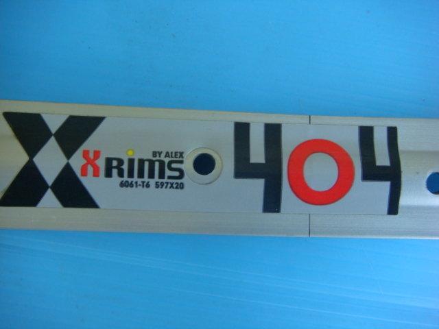 """庫存品ALEXRIMS X404 26 x 1-3/8"""" 597-20 36孔  亞獵士鋁合金輪框/輪圈單層 淑女車"""