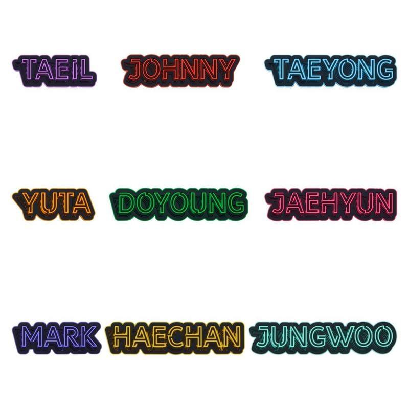 【幫忙代購】NCT127-NCT127 Arena Tour 日本官方演唱會周邊 成員姓名橡膠貼紙(隨機)