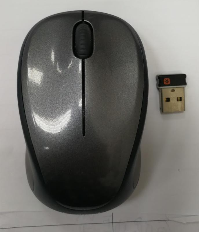 二手少用 Logitech 羅技 M235 2.4G 無線光學滑鼠 (灰色有接收器)