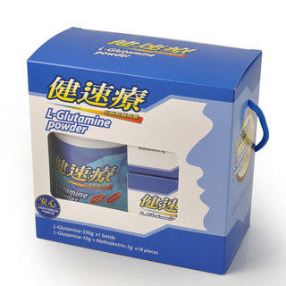 【藥妝熱賣☆挑戰低價】健速療麩醯胺酸L-Glutamine禮盒組(550公克/瓶+15公克X18包)