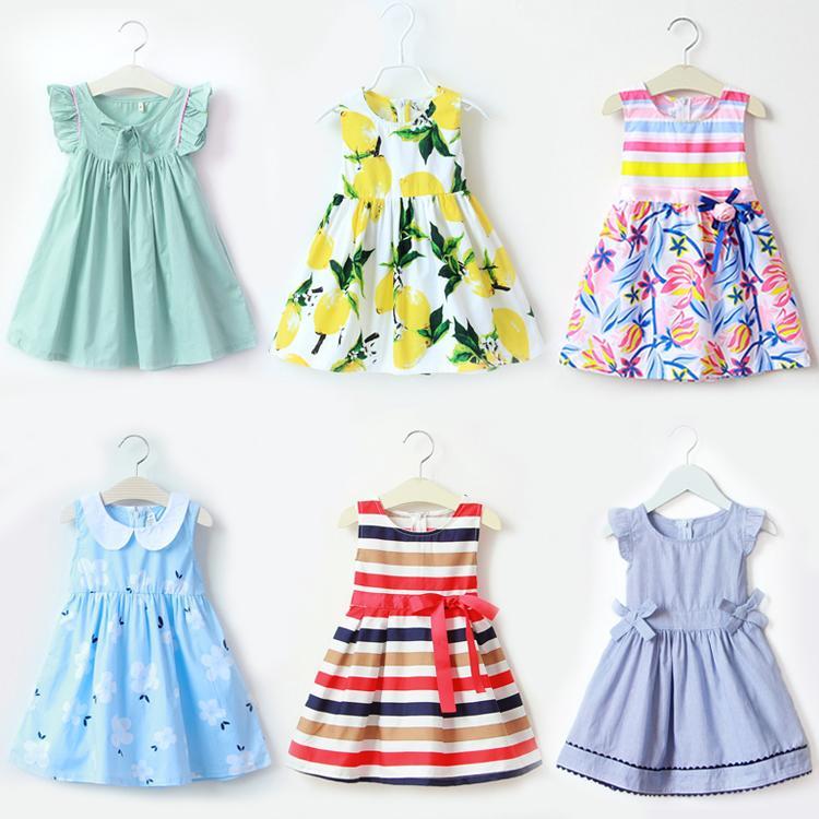 2016夏季短袖純棉女童連衣裙2童裝3夏裝4春5歲6公主裙7兒童8裙子9