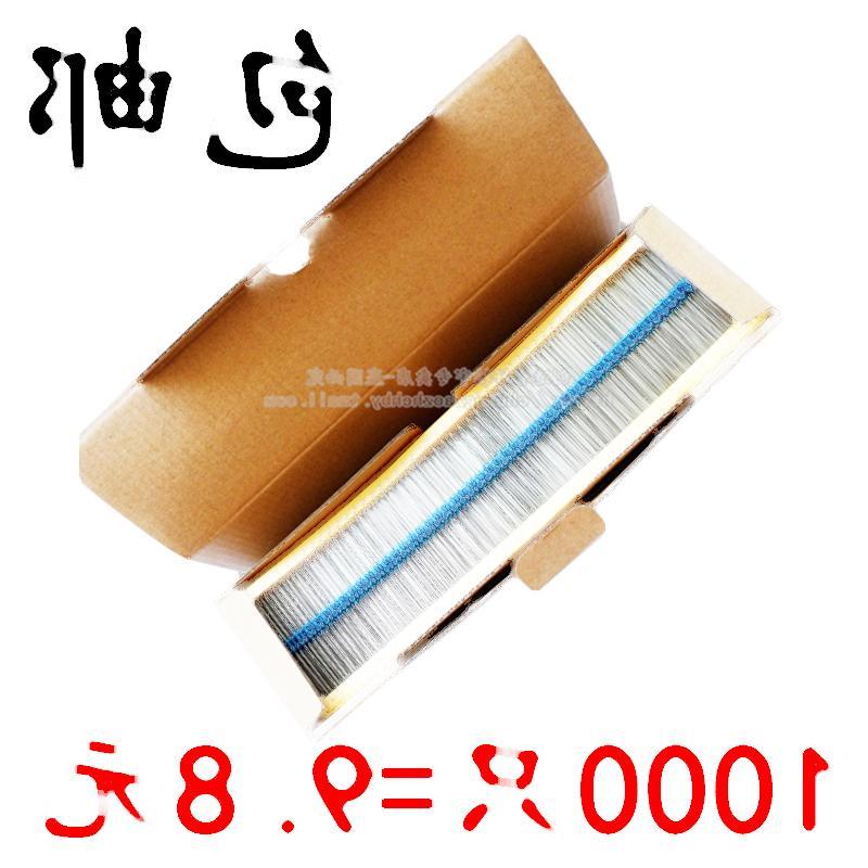 1/4W 0.25W 6.8K 6.8KΩ 金屬膜電阻 色環電阻 編帶1000個 214-02247