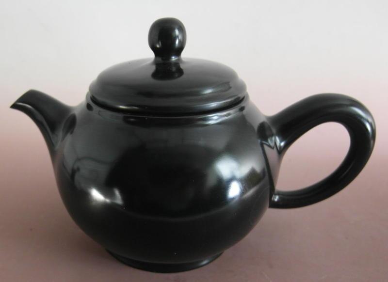 金牛礦晶.茶盤.石壺 vqq-4【黑膽石心 茶壺】-L47#
