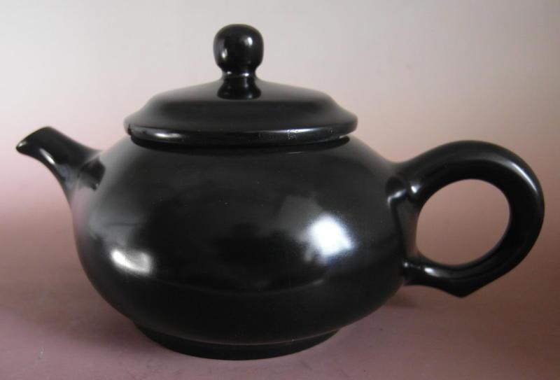 金牛礦晶.茶盤.石壺 vqq-4【黑膽石心 茶壺】-L45#