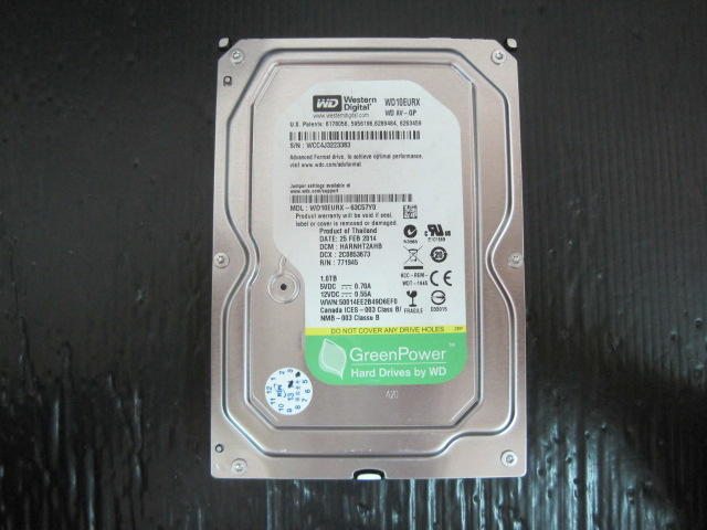 WD AV-GP 3.5吋硬碟 WD10EURX 1TB SATA3/64MB 影音監控用硬碟