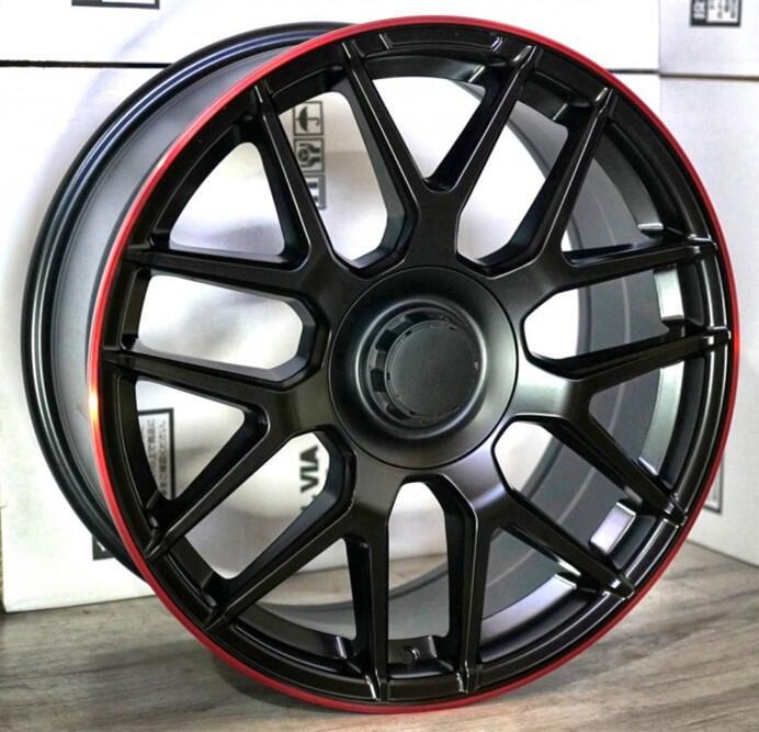 【超前輪業】 EP10713 全新 19吋鋁圈 5孔112 5/112 平光黑紅邊 前後配 W205 C300 C450