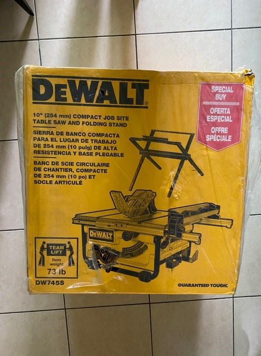 得偉 DEWALT DW745S DW745 10吋 桌鋸 含原廠專用腳架 (暫時缺貨)