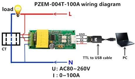 交流多功能電能計量 電力監測儀 電錶 模組 電流錶 功率表 電量表 PZEM-004T (附Arduino範例)