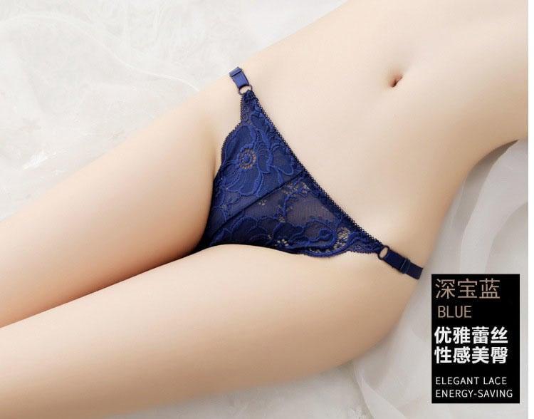 嚴選現貨當日配【6 9 館】冰絲 可調節 比基尼式 低腰 性感誘惑  美臀三角褲8813