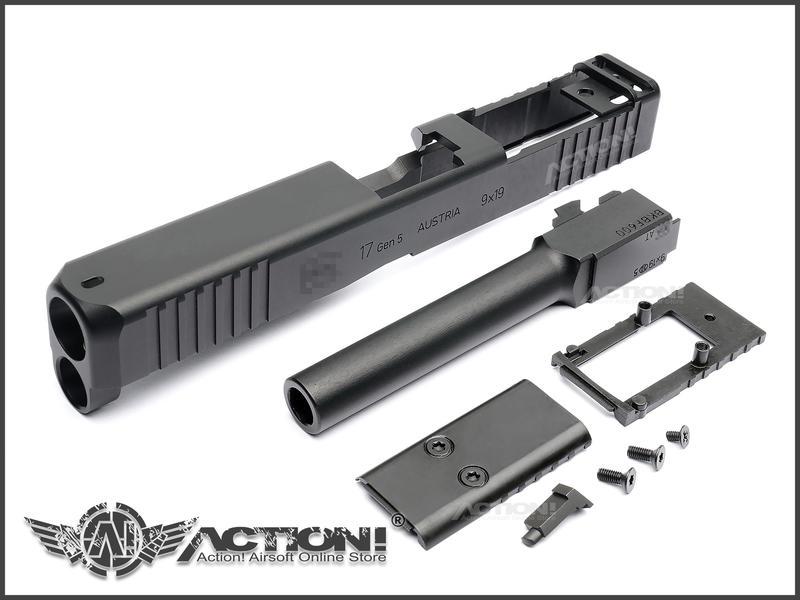 【Action!】現貨免運)GLOCK G17 Gen5 MOS樣式 鋁合金CNC RMR滑套&外管組(VFC專用)