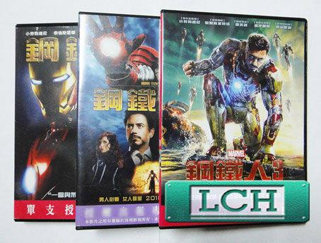 ◆LCH◆正版DVD《鋼鐵人1+2+3》-大法官-小勞勃道尼(買三項商品免運費)