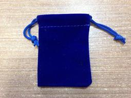 台灣文房~錦囊~絨布束口袋 (青色7x5cm)