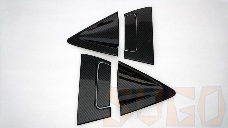SUGO汽車精品 本田HONDA HRV 專用黑碳卡夢水轉印 防刮後門碗+外把手(黏貼式)