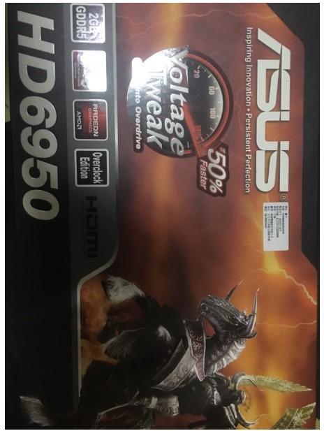 ASUS ATI 6950 DDR5 2GB 公版卡 (以mod 6970且改裝利民Shaman風扇  附原廠風扇)