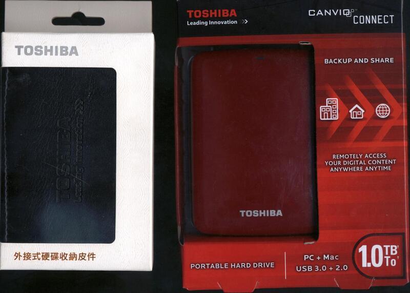 東芝【Toshiba 2.5吋 Canvio Connect 1TB USB 3.0外接式硬碟(紅)】附皮套.富基電通