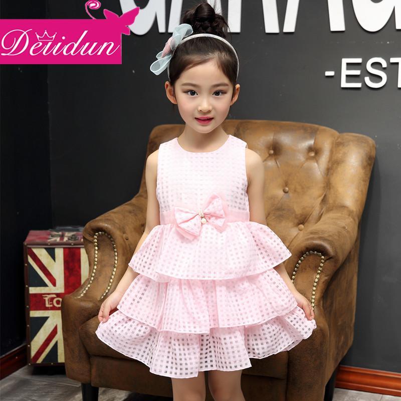 2016新款童裝夏季連衣裙女童韓版時尚公主裙兒童裙子氣質女孩夏裝