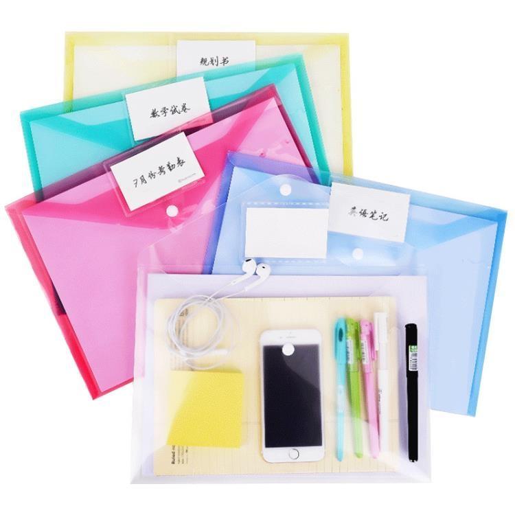 【可開發票】20個創易標簽款A4文件袋透明小清新辦公學生用品文具塑料科目分類檔案資料試卷兒童—聚優購物網
