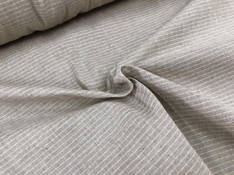 【三樺布行】條紋棉麻 薄胚布 (適合成衣、內裏)