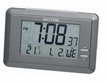 RHYTHM CLOCK 日本麗聲冷光液晶數位電子座鐘鬧鐘 型號:LCT060NR08【神梭鐘錶】