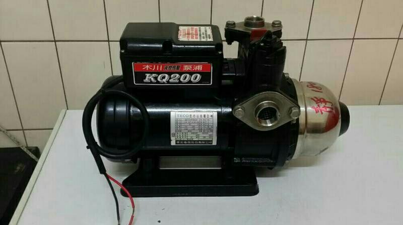 KQ200,(9成新)木川家用穩壓加壓馬達 , 1/4馬力 110/220伏特電壓。