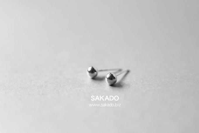 925純銀耳環-阪堂SAKADO--銀豆耳釘