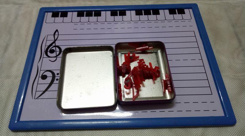 五線譜磁鐵板 音符磁鐵 音樂教具(豆豆磁鐵)