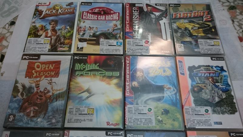 PC 電腦遊戲 一些早期 絕版 DVD盒裝 英文 外國遊戲